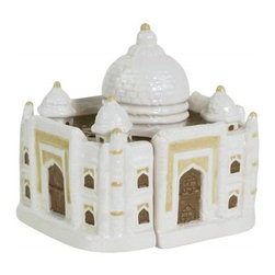 Westland - 4.25 Inch Indian Taj Mahal Monument Salt and Pepper Shakers - White - This gorgeous 4.25 Inch Indian Taj Mahal Monument Salt and Pepper Shakers - White has the finest details and highest quality you will find anywhere! 4.25 Inch Indian Taj Mahal Monument Salt and Pepper Shakers - White is truly remarkable.
