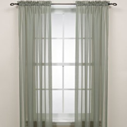 S. Lichtenberg & Company  Inc. - Sage Rod Pocket Sheer Window Curtain Panel - The understated elegance of these sheer curtain panels in sage will create a beautiful look in any room of the house. Its gentle style is enhanced as light filters through it, adding the perfect finishing touch to your decor.