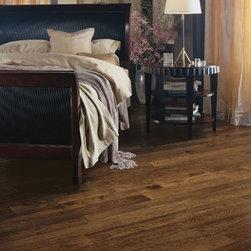 Solid oak plank floor -