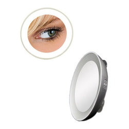 Zadro Products - Zadro LED Lighted Next Generation 15X Spot Mirror Multicolor - LED15X - Shop for Makeup and Vanity Mirrors from Hayneedle.com! The simple handheld design of the Zadro LED Lighted Next Generation 15X Spot Mirror gives you what you need when you need it. While you're on the road you'll be able to use flick a switch and get bright LED illumination and 15X magnification in a simple and convenient 3-inch mirror. Once you've got a place to stay just use the durable suction cups and you've got your vanity area all ready to go.About Zadro ProductsZadro Products has been a leading innovator in bath accessories mirrors cosmetic accessories and health products for over 25 years. Among the company's innovations are the first fogless mirror first variable magnification mirror first surround light mirror and more. Not a company to rest on its laurels Zadro continues to adapt to the ever-changing needs of modern life.