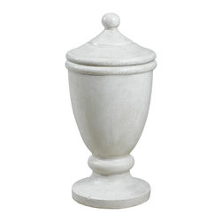 Kenroy - Kenroy 60072 Covered Urn - Garden - Reminiscent of marble and aged plaster, this classical covered urn with removable lid leans to the traditional but has universal appeal.  Indoors or out, this decorative ornament is sure to be a welcome addition to any decor.