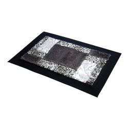 Blancho Bedding - Onitiva - [Symbolism] Patchwork Rugs (19.7 by 31.5 inches) - This patchwork rug is made of high quality faux fur and it features an attractive pattern that traps moisture and dirt. Leather edge for added quality.