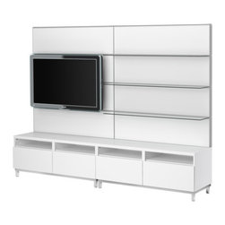 IKEA of Sweden - BESTÅ TV/storage combination - TV/storage combination, white