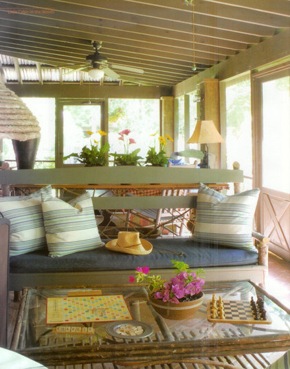 eclectic porch by Ellen Kennon
