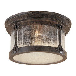 Designers Fountain - Designers Fountain 20935-CHN 2 Light Cast Aluminum Flush Mount from the Canyon L - Features: