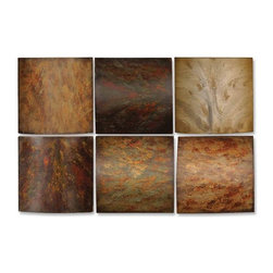 Uttermost - Klum Collage Wall Art, Set of 6 - This artwork is made of wood and may be hung in any order.