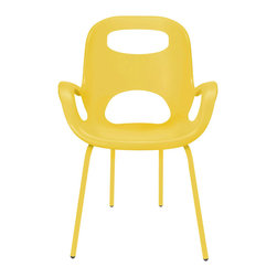 Ray of Sunshine Chair - Set of 2 - This bright yellow, sunny chair is the perfect pick-me-up after a long day at work. Drop into it and pour yourself a soothing evening cocktail.