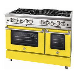 "BlueStar Platinum Series: 48"" Range - 48"" BlueStar Platinum Range in Zinc Yellow (RAL 1018)"