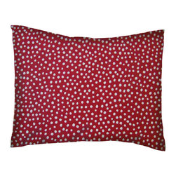 SheetWorld - SheetWorld Twin Pillow Case - Percale Pillow Case - Red Fun Dots - Made in USA - Pillow case is made of a durable all cotton percale material. Fits a standard twin size pillow. Features a Red Fun Dots print.