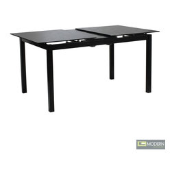 Eldora Floral Etched Extendable Glass Dining Table -