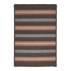 Colonial Mills, Inc. - Salisbury, Bark Rug, 2'X6' - Earthy elegance is yours with this warm, wool-blend rug, which feels as good as it looks. The simplicity of stripes in heathery hues makes it the ideal accent for a bedroom, den, any spot you want to turn a little cozier.