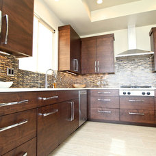 Contemporary Kitchen Cabinetry by Venuti Woodworking