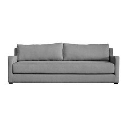 Gus Modern - Flip Sofabed by Gus Modern - The Gus Modern Flip Sofabed goes from modern sofa to comfortable Queen-sized bed with one quick flip. Simply remove the back cushions, grab the handles attached to the inside portion of the seat cushion and pull. For added convenience, the Flip comes complete with a Velcro-attached and machine-washable top sheet. Mid-century modern design interpreted with an industrial edge. Such is the modis operandi of Gus* Modern. Every accessory, sofa, sectional, chair and table they design is inspired by simple forms and honest materials. The resulting modern furniture pieces are clean, elegant and versatile, with crisply tailored upholstery and solid, eco-friendly FSC-certified wood frames. Founded in 2000, Gus* Modern is based in Toronto, Ontario, Canada.