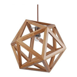 ParrotUncle - Wooden Hedra Ceiling Pendant Lighting for Indoor Decor - The unique lighting designs of this Pendant Lighting will let you shine at the moment. The wood frame formed a three-dimensional crystal ball,which will ornament your bedroom or living room very well. This is not only a simple lamp,but also a delicate adornment for your room.