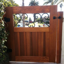 Beach Style Home Fencing And Gates by SD Independent Construction