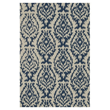 """Loloi Rugs - Loloi Rugs Summerton Collection - Ivory / Denim, 7'-6"""" x 9'-6"""" - Lay a new foundation to your favorite room with a hand-crafted rug from the Summerton Collection. Hand-hooked in China of 100% polyester, these spirited rugs earn notice through clean design and quality craftsmanship. And whether you're relaxing after a long day or just enjoying a lazy Sunday, the perfectly plush feel is a real treat for your feet. With shapes available in rectangles, small rounds, hearths, and runners, Summerton has a rug - or two - for any room."""