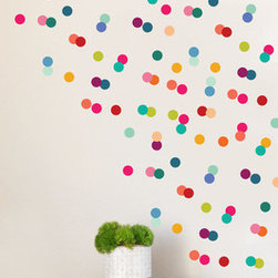 the lovely wall  co - Rainbow Tiny Dots Wall Decal - Please note that metallic vinyl is not reusable.