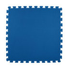 Greatmats - Greatmats Foam Floor Tile, 10 Pack, Blue - This is a 10 pack of tiles. Free Shipping. Each tile is 2x2 ft in size and covers 4 SF, this 10 pack of foam tiles will cover 40 SF. 2 Border strips included per tile. Ships ground to your door.