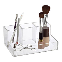 4-Section Acrylic Cosmetic Organizer - Makeup organizers are best in acrylic.
