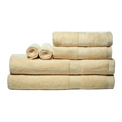 Pure Fiber Bamboo 100% Bamboo 6 Piece Bath Towel Set - Made from 100% bamboo viscous fiber, the Pure Fiber Bamboo 100% Bamboo 6 Piece Bath Towel Set is both ultra-soft and eco-friendly, making it the perfect addition to any earth-friendly home. Each towel in the set combines silky softness with an absorbency greater than that of cotton, providing a perfect finish to your shower or bath. These towels are also naturally hypo-allergenic, anti-microbial, and odor resistant.Dimensions:Bath towel: 56L x 30W inchesHand towel: 30L x 15W inchesWash towel: 13L x 13W inchesAbout Pure Fiber International:Pure Fiber began with a philosophy that the desire for comfort and caring about the environment don't have to be mutually exclusive. Since they created their first 100% bamboo terry towel and bathrobe, they have become a leading supplier of bed and bath products that are both luxurious and eco-friendly. Their products are featured at hundreds of luxury resorts, boutique hotels, and other upscale destinations, and they continue to produce plush robs and absorbent towels that will make you feel great inside and out. Whether it's a 100% bamboo robe, or a towel made from a blend of bamboo and soft organic cotton, you'll love the feel of Pure Fiber.