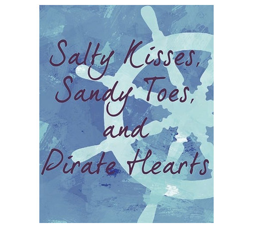 Oh How Cute Kids by Serena Bowman - Nautical Salty Kisses, Ready To Hang Canvas Kid's Wall Decor, 8 X 10 - Each kid is unique in his/her own way, so why shouldn't their wall decor be as well! With our extensive selection of canvas wall art for kids, from princesses to spaceships, from cowboys to traveling girls, we'll help you find that perfect piece for your special one.  Or you can fill the entire room with our imaginative art; every canvas is part of a coordinated series, an easy way to provide a complete and unified look for any room.