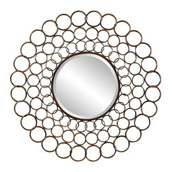 Cooper Classics - Cooper Classics Vernon Mirror, Cooper - Add a lovely focal point to any wall with the beautiful Vernon mirror. This gorgeous wall mirror features a copper finish that will make a wonderful addition to any decor.