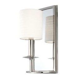 HUDSON VALLEY LIGHTING - Hudson Valley Lighting 1 LIGHT MIRRORED WALL SCONCE, Polished Nickel - Free Shipping