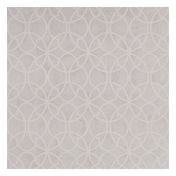 Graham & Brown - Origin Wallpaper - Origin White and pearl shimmer wallpaper, will catch your eye and draw the attention to the paper with it's unique style a mix of different circles
