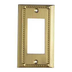 """Elk Lighting - EL-2502BR Clickplates Brass Single Switch Plate Lighting Accessory - Decorative outlet covers customizable to your receptacle configuration. """"we've got you covered"""" with the most popular models and finishes. Quality cast metal construction will add a finishing touch to your decor. Clickplates will look great in every room in your home."""
