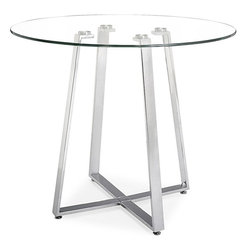 Zuo Modern - Zuo Lemon Drop Pub Counter Table - Drop Pub Counter Table belongs to Lemon Drop Collection by Zuo Modern A cosmopolitan and sleek piece, the Lemon Drop has a clear tempered glass top with chrome steel tube base. Pub Counter Table (1)