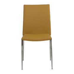 Eurostyle - Diana Side Chair (Set Of 4)-Safrn/Ss - Leatherette seat and back