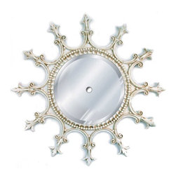Hickory Manor House - Spoked Mirrored Ceiling Medallion in Old Worl - Vintage original. Custom made by artisans unfortunately no returns allowed. Enhance your decor with this graceful mirrored ceiling medallion. Made in the USA. Made of pecan shell resin. 23 in. Dia. (8 lbs.)
