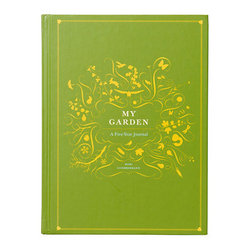"My Garden: A Five Year Journal - Record your successes and ""learning experiences"" in this beautiful garden journal. My favorite part: You can relive your garden in those cold winter months."