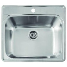 "Blanco 441078 Essential Laundry Sink with 18 Gauge Stainless Steel 25"" x 22"""