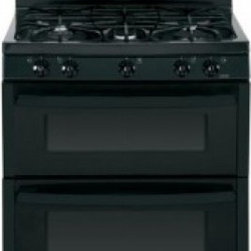"GE - JGB870DEFBB 30"" Freestanding Gas Double Oven Gas Range with 5 Sealed Burners  4. - A new gas range or electric range should meet all your cooking needs for years to come from warming a simple pan of soup for one person to handling a large dinner party or holiday meal for the whole family Plus your stove should look great in your ki..."