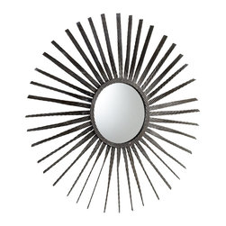 Cyan Design - Cyan Design Sun Burst Modern / Contemporary Round Mirror X-31650 - Textured detailing adds an unexpected touch to the metal rays of this stylish Cyan Design wall mirror. This sun burst wall mirror pairs its textured iron body with a beautiful Bronze finish, creating a unique look that is ideal for industrial spaces, modern homes, contemporary settings and beyond.