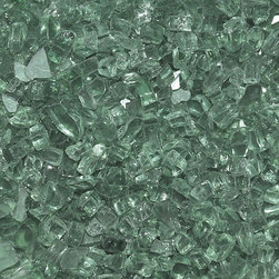 "American Fireglass Evergreen | 1/4-in Fire Glass | 10 lb - AFF-EVGR-10 American Fireglass 10 lbs 1/4"" Accent Gems - Evergreen"