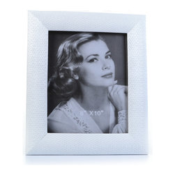 "Concepts Life - Concepts Life Photo Frame  Loving Link  White 8x10"" - Inspired by fine jewelry, these white Loving Link frames will add sparkle and a hint of romance to your photograph collection. Ideal for your home as well as for your loved ones!  Modern home accent Contemporary white picture frame Beautiful and elegant home accent Rectangular photo frame Made of polyresin Textured glossy finish Easel back for horizontal or vertical display Various sizes available Holds 8 x 10 in. size photo Dimensions: 11""w x 13""h x 1""d Weight: 3 lbs"