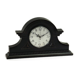 IMAX CORPORATION - Black Mantel Clock - This charming black mantle clock will become a keepsake as it keeps time. Find home furnishings, decor, and accessories from Posh Urban Furnishings. Beautiful, stylish furniture and decor that will brighten your home instantly. Shop modern, traditional, vintage, and world designs.
