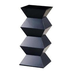Wayborn - Obit Pedestal in Black - Modern style. Made from Pinus Sylvestris. Antique smooth finish/worn. 16 in. L x 16 in. W x 36 in. H (37 lbs.)