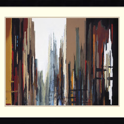 Amanti Art - Urban Abstract No. 165 Framed Print by Gregory Lang - Somewhere between a rainy day and a city scene, Gregory Lang's Urban Abstract No. 165 evokes your favorite urban landscape. This framed print is right at home on the wall of your family room or corner office.