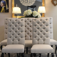 Contemporary Dining Chairs by Audrey Lewis Interiors