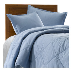 American Made Dorm & Home - Blue Oxford Cloth Oversized Twin Bedding -