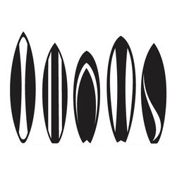 Surfboards Set Wall Decal - Some wall decals may come in multiple pieces due to the size of the design.