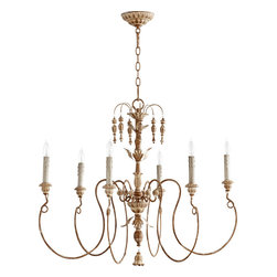"Quorum International - Quorum 6006-6-94 Salento 32""/6Lt Chandelier -Fru - Quorum 6006-6-94 Salento 32""/6LT Chandelier -Fru"