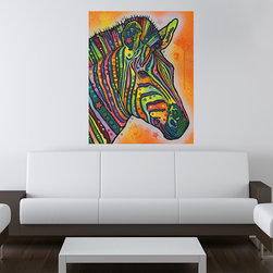 My Wonderful Walls - Zebra Wall Sticker - Decal, Small - - Zebra graphic by Dean Russo
