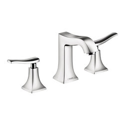 Hansgrohe - Hansgrohe Metris C Wide Spread Bathroom Faucet , Polished Chrome - Spout Reach: 5""