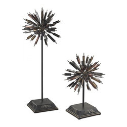 Sterling Industries - Boulevard-Set Of 2 Abstract Finials - Boulevard-Set Of 2 Abstract Finials