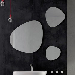 Art Ceram | One Shot Stone Mirrors - Set of 3 -