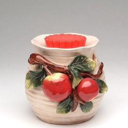ATD - 5 Inch Colored Apple on Branch and Leaves Themed Tart Burner - This gorgeous 5 Inch Colored Apple on Branch and Leaves Themed Tart Burner has the finest details and highest quality you will find anywhere! 5 Inch Colored Apple on Branch and Leaves Themed Tart Burner is truly remarkable.
